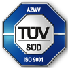 TÜV logo and symbol for certified quality management system