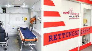 View into an ambulance (simulator)