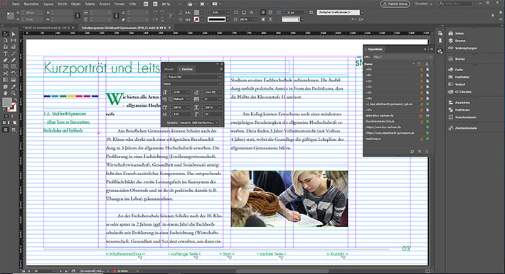 Screenshot Adobe InDesign®