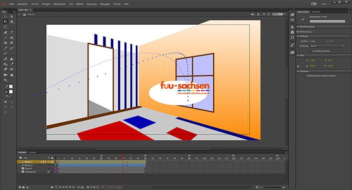 Screenshot Adobe® Animate