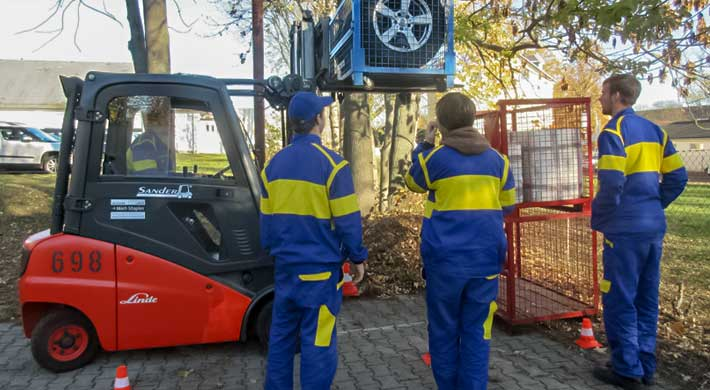 Forklift Truck Operator Training for Students from Poland