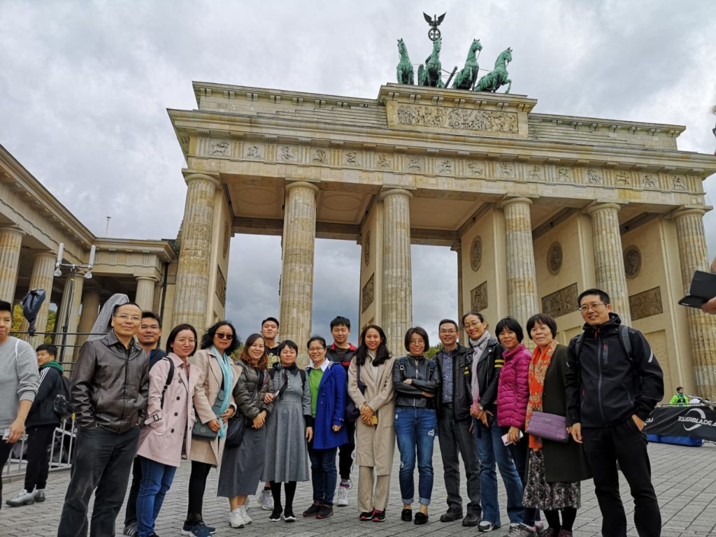 The teachers group from Guangzhou in Berlin