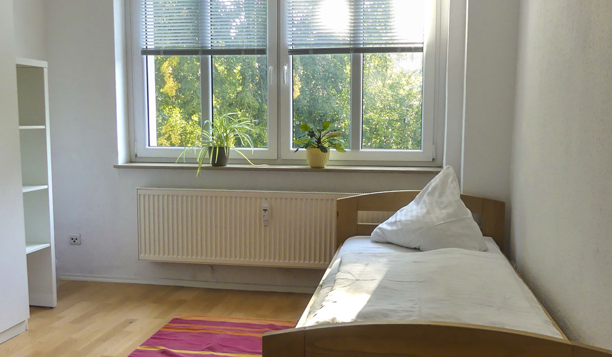Bedroom in the fuu-sachsen guesthouse